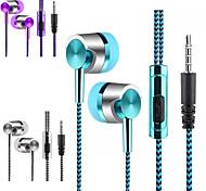 """economico -LITBest 12 Auricolari in-ear cablato """"Jack audio da 3,5 mm"""" Stereo Controllo InLine per Apple Samsung Huawei Xiaomi MI Sport Fitness"""