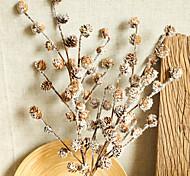 abordables -plantes artificielles branche de boule de pin plantes séchées naturelles décorations de noël accessoires de fête de mariage à la maison