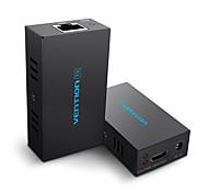 economico -vention 60m hdmi extender 1080p 3d hdmi trasmettitore ricevitore over cat 5e / 6 rj45 ethernet converter us eu plug a pair