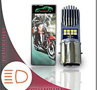 economico -otolampara 1 pezzo lampadina del faro principale del motociclo ba20d 16w 6000k dissipazione del calore della fessura di colore bianco faro principale del motociclo del fascio luminoso alto h6 speciale