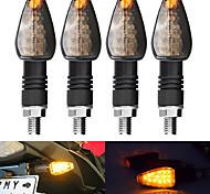 economico -2 pezzi indicatori di direzione per moto lenti fumé led ambra spia lampeggiante universale 24v 14led light