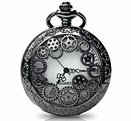 abordables -montre de poche vintage avec collier de chaînes, steampunk gear montres de poche à quartz creux pour hommes femmes cadeau d'anniversaire de noël cadeau