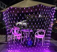 abordables -3mx2m 200 leds net lumières rideaux lumières filet de pêche lumières blanc chaud blanc bleu multicolore arbre de noël décor à la maison fête violet bleu blanc chaud multi couleur blanc
