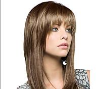 economico -parrucca sintetica parrucca asimmetrica riccia lunga grigio argento marrone capelli sintetici design alla moda femminile squisito grigio marrone romantico