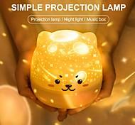 abordables -veilleuse ciel étoilé lampe de projection 360 degrés rotation musique veilleuse colorée romantique lampe de nuit clignotante bébé enfant cadeau-peut être utilisé sans fil après la charge
