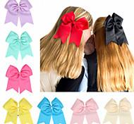 abordables -1 PCS Enfants / Bébé Fille Actif / Doux Noir / Blanc / Bleu Couleur Pleine Noeud Polyester Accessoires Cheveux Blanche / Noir / Bleu Taille unique