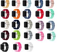 economico -Cinturino intelligente per Apple  iWatch 1 pcs Chiusura classica Silicone Sostituzione Custodia con cinturino a strappo per Apple Watch  6 / SE / 5/4/3/2/1