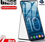 abordables -Protection Ecran Samsung Verre Trempé S21 S21 Plus S21 Ultra S20 S20 Plus 2 pcs Haute Définition (HD) Dureté 9H Antidéflagrant Ecran de Protection Avant Film Vitre Protection Accessoire de Téléphone