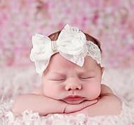 abordables -1pcs Bébé / Nourrisson Fille Actif / Doux Blanc Couleur Pleine Noeud Dentelle Accessoires Cheveux Blanche Taille unique