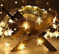 abordables -1.5m 3m led guirlande guirlande guirlande étoile lumière intérieure guirlande flexible scintillante guirlandes décor noël noël fête de vacances mariage blanc chaud éclairage aa batterie (livré sans