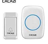 economico -cacazi campanello impermeabile senza fili autoalimentato senza pulsante batteria campanello senza fili per casa 38 campanello 4 ricevitore volume
