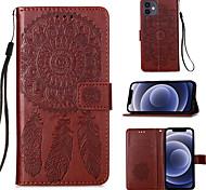economico -telefono Custodia Per Apple Integrale Custodia in pelle Custodia flip iPhone 12 Pro Max 11 SE 2020 X XR XS Max 8 7 Porta-carte di credito Con chiusura magnetica A calamita Tinta unica Piume pelle