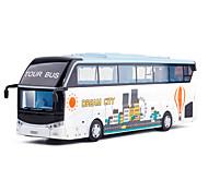abordables -Alliage Autobus à impériale Véhicule de construction de camion jouet Simulation Musique et Lumière Tous Enfants Adultes Jouets de voiture