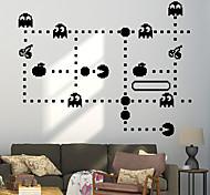 economico -14 colori cartone animato anime pac-man gioco adesivi murali per camerette bambini adesivo sala giochi per bambini arredamento camera da letto decalcomanie di arte della parete divertente 48 * 58 cm
