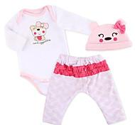 abordables -Vêtements de poupées Reborn Baby Accessoires de poupée Reborn Tissus pour 20-22 pouces Reborn Doll Poupée Reborn Non Incluse Doux Pur fait main Fille 3 pcs