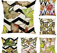 economico -set di 6 fodere per cuscini decorativi quadrati in lino con piante geometriche artistiche fodere per cuscini per divani 18x18