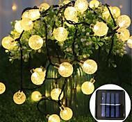 economico -scatola di batteria a forma di palla di bolla a led solare illuminazione a catena calda festa di natale festival luci decorative da interno per esterni