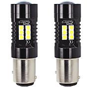 abordables -otolampara 2 unités clignotant à LED 1157 21w faisceau de modèle d'éclairage spot ampoule led de voiture bay15d 1/1 ampoule halogène OEM taille 50000hrs durée de vie plug and play installation facile