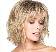 abordables -perruque synthétique bouclée avec frange perruque blonde courte blonde cheveux synthétiques design à la mode des femmes mis en évidence / balayage cheveux blonde exquise