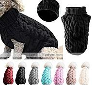 economico -maglione per maglieria per cani da compagnia, maglione per maglieria a collo alto moda outwear vestiti per animali domestici