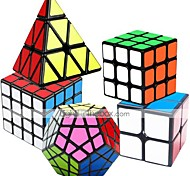 economico -Set Speed Cube 5 pcs Cubo magico Cube intuitivo 2*2*2 3*3*3 4*4*4 Cubo a pazzle Cubo puzzle 3D Anti-stress Cubo a puzzle Liscio Giocattoli per ufficio Rompicapo A piramide Megaminx Per bambini Adulto