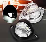 abordables -2pcs éclairage de plaque d'immatriculation 3 LED 10-30V arrière plaque d'immatriculation plaque d'immatriculation lampe LED allée éclairage pour remorque camion camion van 4000K