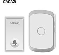 abordables -Cacazi sonnette sans fil étanche auto-alimentée sans bouton de batterie 200m à distance LED lumière maison sonnette sans fil 36 carillon