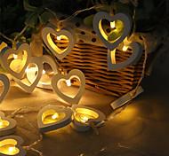 abordables -3m 20leds 1.5m 10leds forme de coeur LED guirlande lumineuse alimentée par batterie Convient pour la fête de Noël de mariage de conte de fées éclairage livraison sans batterie