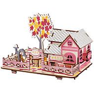 economico -Puzzle 3D Modellini di legno Giocattoli fai-da-te Casa Fai da te di legno Lengo naturale Unisex Giocattoli Regalo
