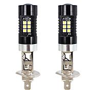 abordables -otolampara 1 paire d'ampoule led de voiture h1 21w 360 degrés de légèreté 100% dissipation thermique en aluminium tout en un design plug and play faisceau d'éclairage à motif de spot phare led ampoule