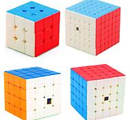 economico -Set Speed Cube 4 pcs Cubo magico Cube intuitivo MoYu 3*3*3 4*4*4 5*5*5 Cubo a pazzle Anti-stress Cubo a puzzle Senza adesivo Liscio Giocattoli per ufficio Per bambini Adulto Giocattoli Regalo