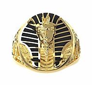 abordables -acier inoxydable pharaon égyptien hommes anneaux 18k plaqué or égyptien oeil d'horus croix de vie anneaux ankh et sphinx pour hommes punk biker bijoux pour hommes (or, 10