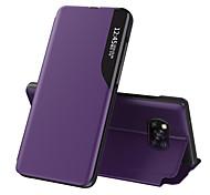 economico -telefono Custodia Per Xiaomi Integrale Custodia in pelle Custodia flip Xiaomi Poco X3 NFC Resistente agli urti Con supporto Con chiusura magnetica Tinta unica pelle sintetica