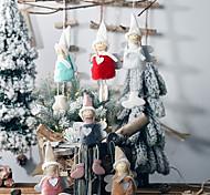 economico -decorazione natalizia nuovo peluche amore angelo ciondolo piccolo albero ciondolo bambino carino peluche bambola regalo