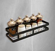 abordables -salle de bain suspendu panier étagère noir en acier inoxydable noir mat espace de frappe gratuit assaisonnement rack de stockage de cuisine