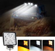 abordables -2pcs 126w 16led 12600lm lampe de travail ronde LED lampes de conduite avec tache et couverture anti-inondation ampoule de brouillard hors route pour tracteur tout-terrain UTV atv suv bateau camion