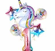 economico -palloncini unicorno per decorazioni ragazza 1 ° compleanno, palloncino numero 1 da 32 pollici grande palloncino unicorno arcobaleno per tema unicorno decorazioni per feste per bambini, prima festa di