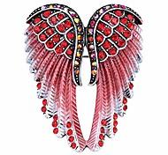 economico -spilla da donna con ali d'angelo custode& ciondoli 2 in 1 - porta sciarpa - 2 x 1 pollice - piombo& nichel libero - cristallo& smalto (rosso)
