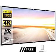economico -schermi portatili per proiettori 60 84 100 schermo cinematografico per esterni in poliestere da 120 pollici 16: 9 per viaggi home theater proiettore-contiene 6 ganci
