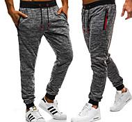 economico -pantaloni da allenamento da uomo pantaloni da corsa conici da pista pantaloni sportivi da jogging per uomo slim grigio