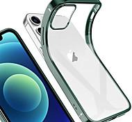 economico -telefono Custodia Per Apple Per retro iPhone 12 Pro Max 11 SE 2020 X XR XS Max Placcato Tinta unita TPU
