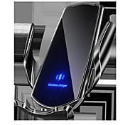 abordables -q3 voiture de charge sans fil support de téléphone portable ouverture et fermeture par induction intelligente dispositif de charge magnétique monté sur le cadre de navigation de voiture, serrage automatique du capteur, adapté à 99% des téléphones intellig