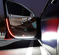abordables -2 pièces auto porte de voiture décoration bandes lumineuses style de voiture stroboscopique lumière clignotante sécurité 12 V LED ouverture avertissement LED lampe bande étanche