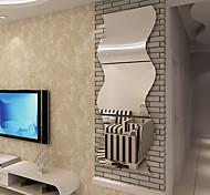 abordables -argent miroir réfléchissant surface décor créatif art bricolage 3d acrylique cristal miroir sticker mural salon chambre plafond mural décalque décoration de la maison 3 pièces 16 * 17 cm