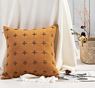 abordables -housse de coussin double face artisanat manuel doux décoratif housse de coussin carré taie de coussin taie d'oreiller pour canapé chambre 45 x 45 cm (18 x 18 pouces) qualité supérieure lavable en
