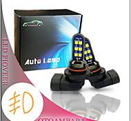 abordables -otolampara 1 paire voiture led antibrouillard 9006 12w double côtés légèreté mini élégant plug and play installation facile ampoule antibrouillard avant hb4