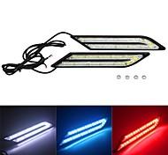 abordables -2 pcs Universel DRL LED Voiture Feux De Jour 33 LED Conduite Lampe Universelle De Voiture Auto Brouillard Source De Lumière 12V 100% Étanche 12 V