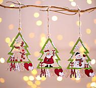 abordables -3 pcs Père Noël Bonhomme De Neige Cerf Arbre De Noël Pendentif De Noël Décoration Suspendus Ornements De Noël Arbre Décor Nouvel An Décor À La Maison