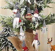 economico -decorazioni natalizie pendenti piccoli lavorati a maglia pendenti per bambole senza volto pendenti di babbo natale