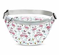 abordables -sac de taille de sport de licorne, filles pvc transparent argent poche de hanche sac banane sac de ceinture de poche de taille durable pour marcher course randonnée shopping